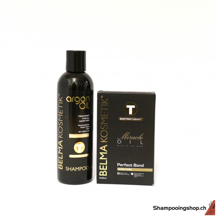 TANINO  Botox Express Miracle Oil Perfect Bond 4x20ml + Shampoo Argan Oil 250ml Belma Kosmetik