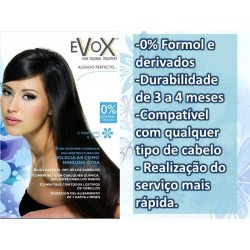 Pack Evox light smoothing Tannin without formaldeyde 500ml+ anti-residue shampoo 70ml x2 + Mask Excellence 300ml