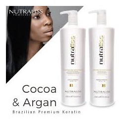 Naturaliss Brazilian Hair Lissage Kératine Cacao et Argan 2 x 1000ml