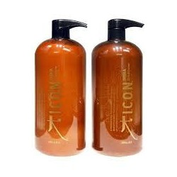 ICON India Öl, Shampoo 1000ml, Conditioner 1000ml, (Arganöl und Morengaöl)