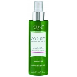 KEUNE So Pure Color Care Leave-in Spray, Ätherische Öle Jasmin und Sandelholz  Bio 200ml